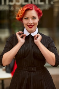 Miss Candyfloss Black Pinstripe Swing Dress 102 10 26307 20180803 1