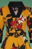 Hearts and Roses Mustard Floral Dress 102 89 26943 1V