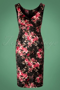Steady Clothing Floral Velvet Dress Black 100 14 26974 20181008 0288W