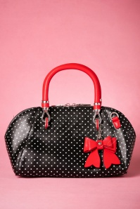 50s Lady Layla Handbag in Black and Red