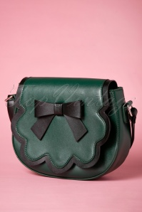 60s Rocco Handbag in Green and Black