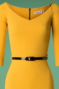 Vintage Chic Mustard Long Sleeve Pencil 100 80 26641 20181008 0297V