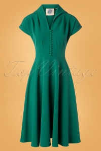 Pretty Retro Pretty 40s Green Dress 102 40 27711 20181009 0002W
