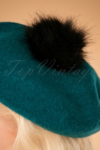 Louche Stevie Turquoise Beret 202 40 25883 10042018 018W