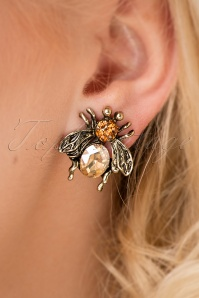 20s Gracie Bee Stud Earrings in Gold