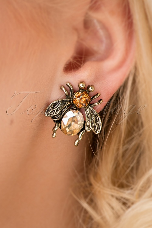 Louche Gracie Bee Earrings 330 91 25854 10042018 002W