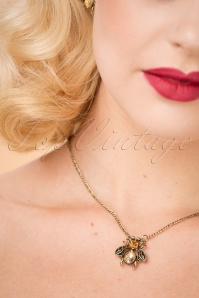 20s Gracie Bee Necklace in Gold