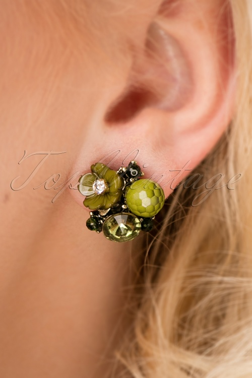 Louche Zara Green earrings 330 49 25865 10042018 001W