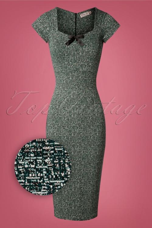 Vintage Chic tweed fabric 50s josie green 100 49 27797 20181008 0218Z