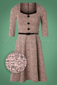Vintage Chic Pink Tweed Swing Dress 102 22 27367 20181009 0002Z