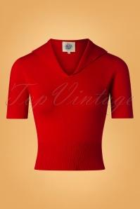 50s Karin Retro Sweater in Red