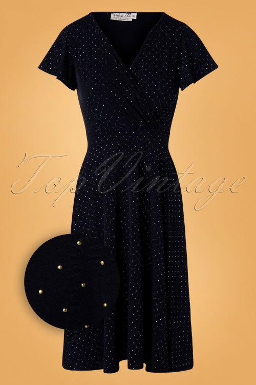 Vintage Chic Navy Pin Dot Dress 102 39 28026 20181009 0001Z