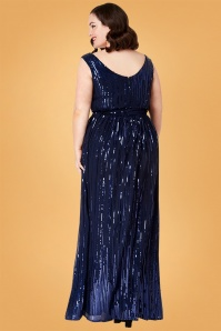 Vintage Chic Sequin Long Maxi Dress 108 31 28114 2