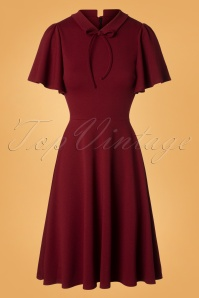 Vintage Chic Wine Swing Dress 102 20 28283 20181009 0001W