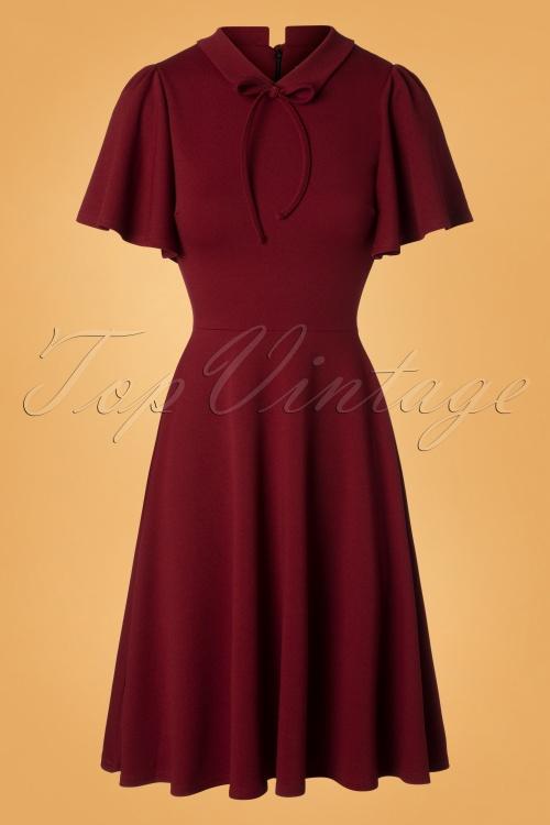 Vintage Chic Wine Swing Dress 102 20 28283 20181009 0001W