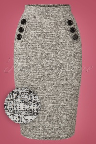 Vintage Chic Tweed 50s Pencil Skirt 120 19 27798 20181010 0001V
