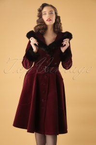 Collectif Clothing Callie Quilted Velvet Swing Coat 152 20 24782 20180704 1W