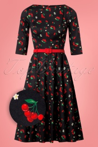 Collectif Clothing Suzanne Cherries and Blossom Swing Dress 24813 20180628 0007Z