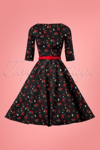 Collectif Clothing Suzanne Cherries and Blossom Swing Dress 24813 20180628 0003W