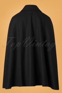 Collectif Clothing Caroline Cape Coat in Black 24785 20180704 0010W
