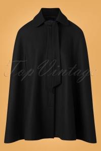 50s Caroline Cape Coat in Black