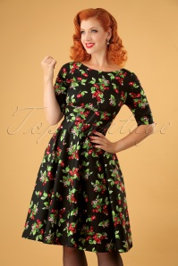 50s Cherie Swing Dress in Black