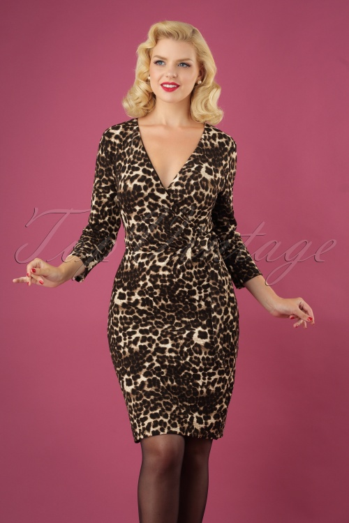 Smashed Lemon Brown Leopard Print Dress 25619 20180724 0011W