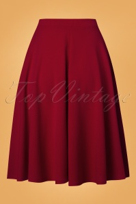 Vintage Chic 50s Sheila Swing Skirt in Red 28056 20180305 0009W