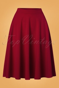 Vintage Chic 50s Sheila Swing Skirt in Red 28056 20180305 0003W