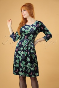 Smashed Lemon Blue and Green Floral Swing Dress 25613 20180724 1W