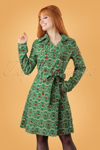 60s Casablanca Souvenir Trench Coat in Highnoon Saloon Green