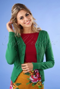 Tante Betsy Cardigan in Green 140 40 25437 20180727 01W