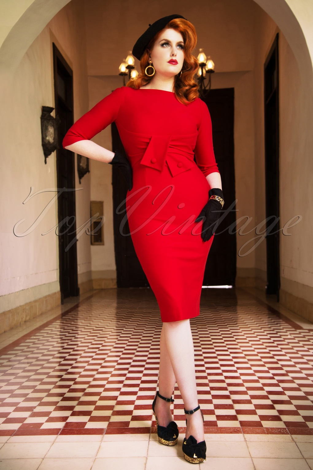 Wiggle Dresses | Pencil Dresses 40s, 50s, 60s The Sarah Pencil Dress in Lipstick Red £65.59 AT vintagedancer.com
