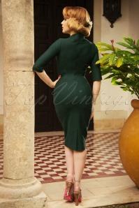 Vintage Diva Stella Pencil Dress in Green   20180612 0011W
