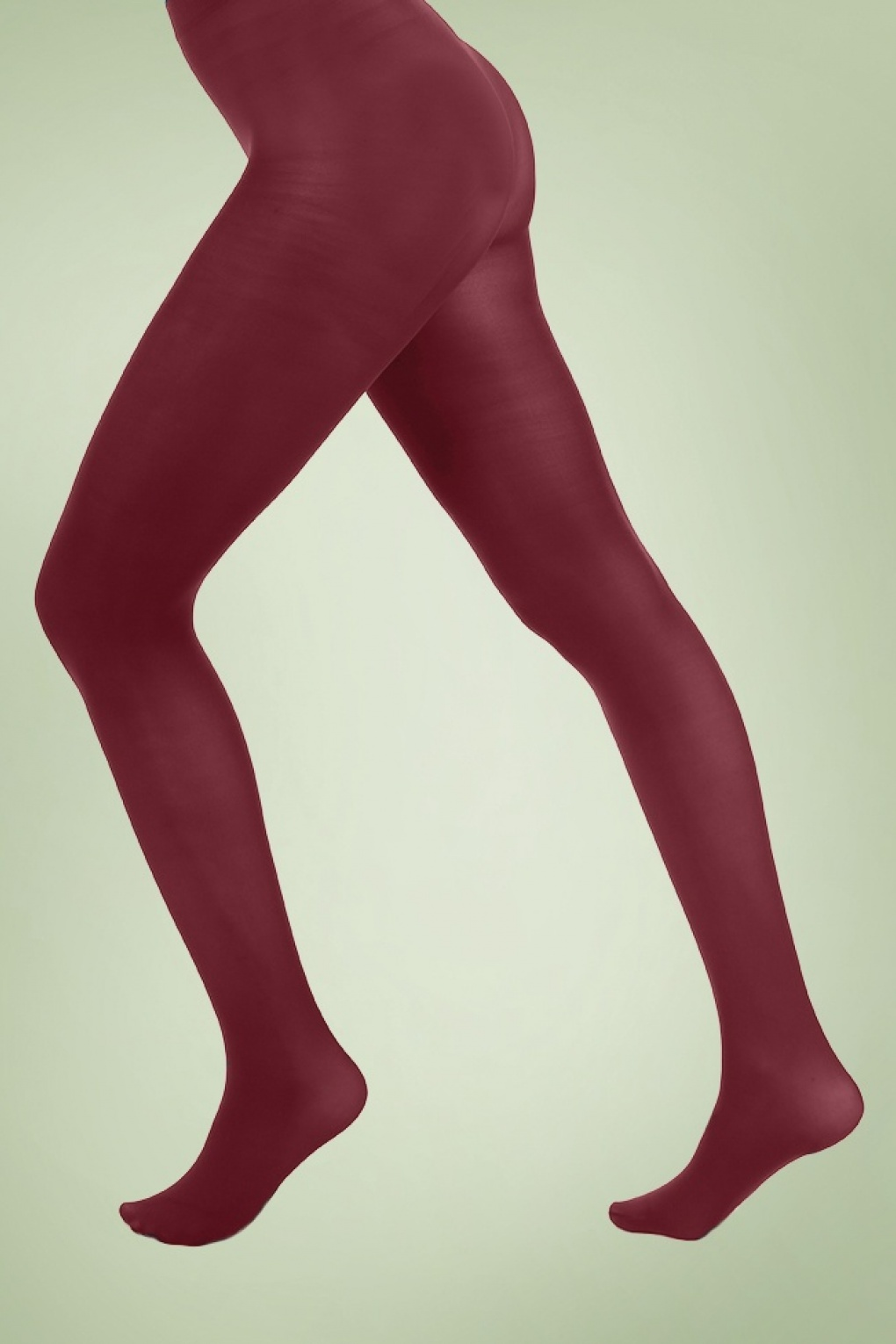 1960s Style Dresses, Clothing, Shoes UK 60s Opaque Tights in Burgundy £8.04 AT vintagedancer.com