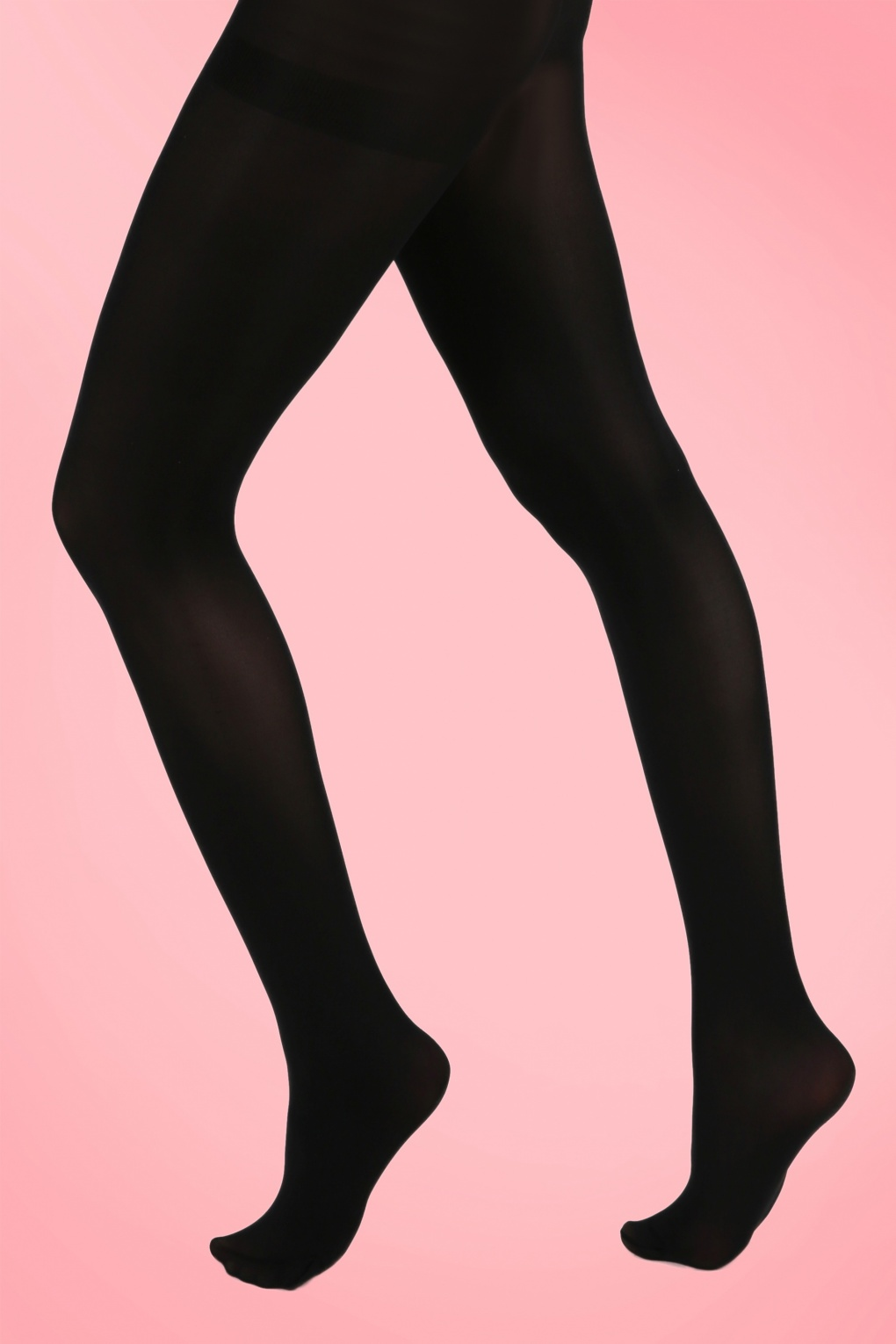 1960s Tights, Stockings, Panty Hose, Knee High Socks 60s Opaque Tights in Black £7.77 AT vintagedancer.com