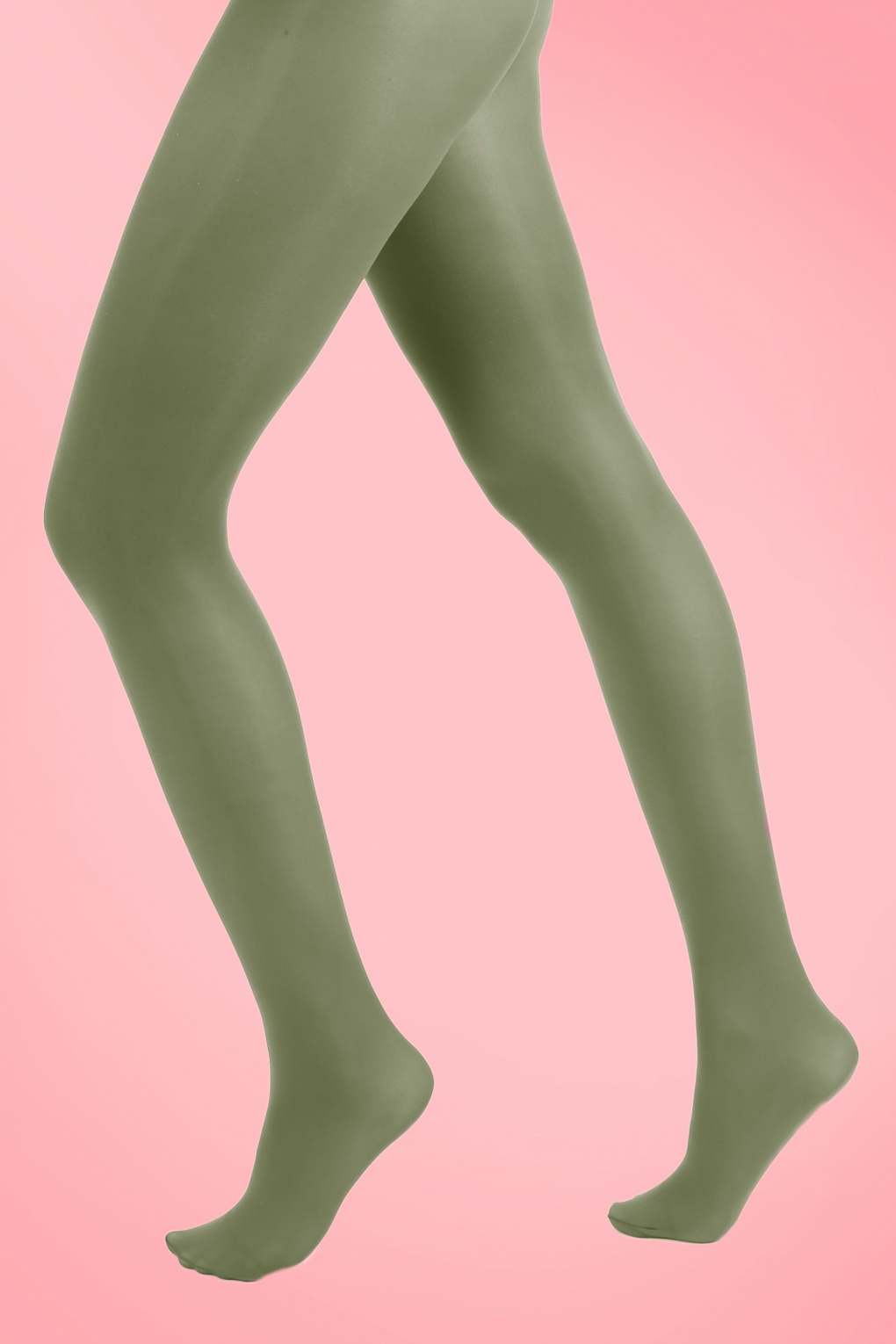 1960s Style Dresses, Clothing, Shoes UK 60s Opaque Tights in Leaf Green £7.14 AT vintagedancer.com