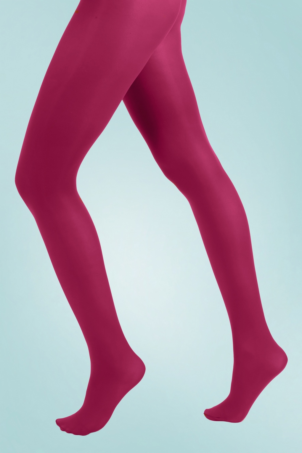 1960s Style Dresses, Clothing, Shoes UK 60s Opaque Tights in Cerise £7.08 AT vintagedancer.com