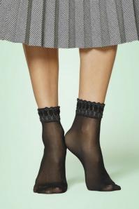 Danse Glitter Socks Années 50 en Noir