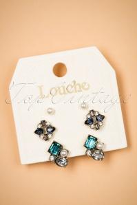 Skye Art Deco Stud Earring Set Années 20