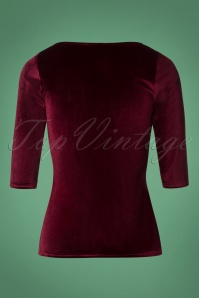 Steady Clothing Velvet Long Top in Burgundy 113 20 26971 20181010 0007W