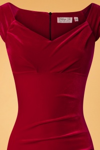 Vintage Chic Red Plain Velvet 100 20 28021 20181011 0316V