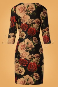 Smashed Lemon Black Foral Roses Dress 100 14 26126 20181012 0004W