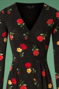 Smashed Lemon Black Polka Rose Dress 100 14 26132 20181011 0412V