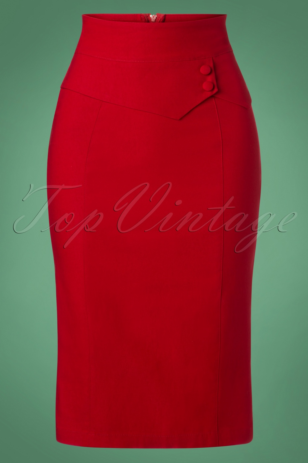 1950s Swing Skirt, Poodle Skirt, Pencil Skirts 50s Bernice Pencil Skirt in Red £44.30 AT vintagedancer.com