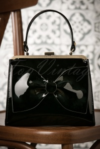 50s Inez Always By My Side Handbag in Black