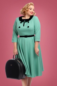 Collectif Clothing Christine Swing Dress Light Green 24821 1