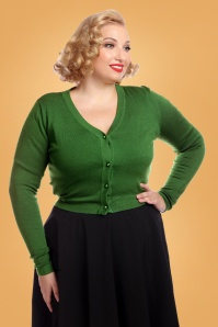 Collectif Clothing Kimberley Knitted Bolero Olive 24792 1