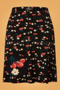 King Louie Border Skirt Cherry Pie in Black 25379 20180725 0001Z
