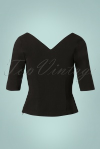Collectif Clothing 50s Sonia Top in Black 110 10 24859 20180629 0010W